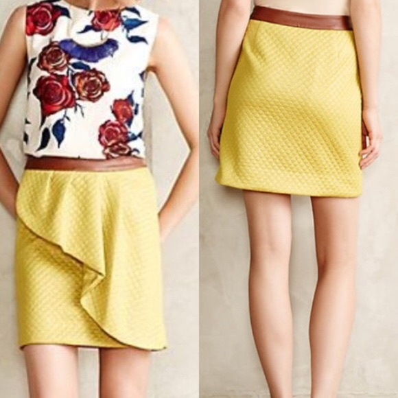 Anthropologie Dresses & Skirts - Anthropologie HD in Paris Quilted  Skirt Size 0